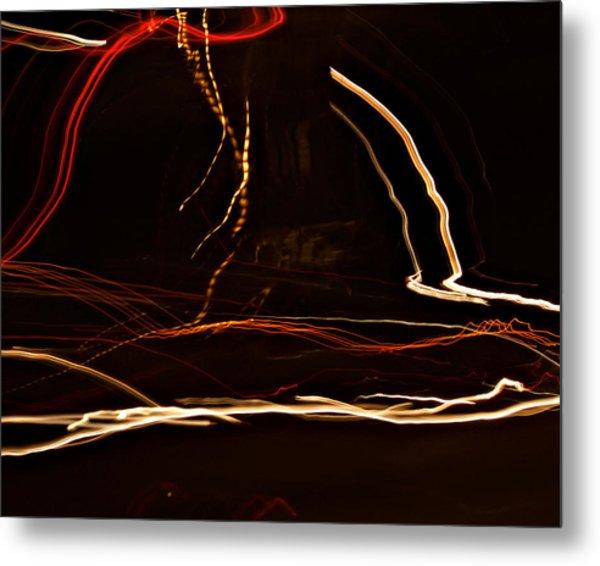 La-405 Dancing Lights Metal Print