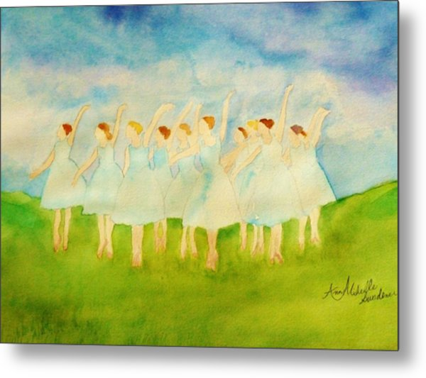 Dancing On Top Of The Grass Metal Print