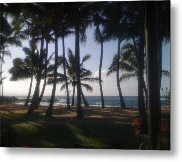 Dancing Palm Trees Metal Print