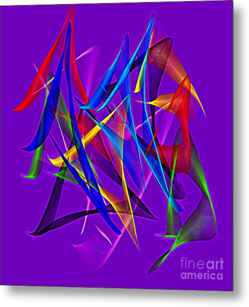 Dancing Satins Metal Print