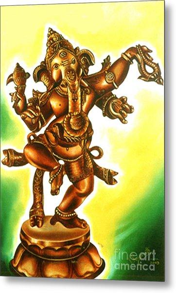 Dancing Vinayaga Metal Print