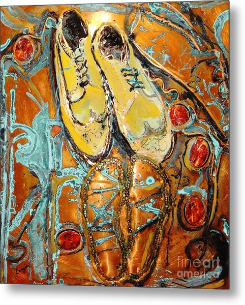 Dancing With Daddy Metal Print