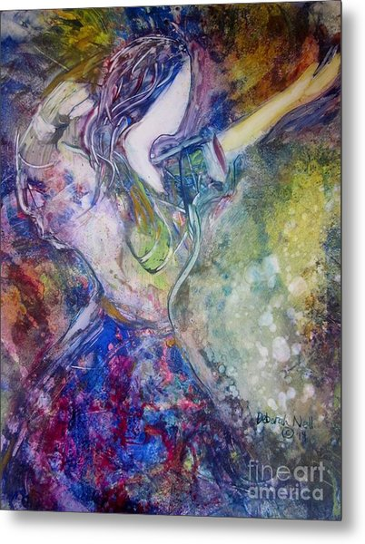 Metal Print featuring the painting Dancing With The Lord by Deborah Nell