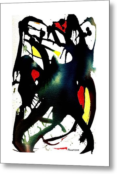 Dancing With The Shadow Metal Print