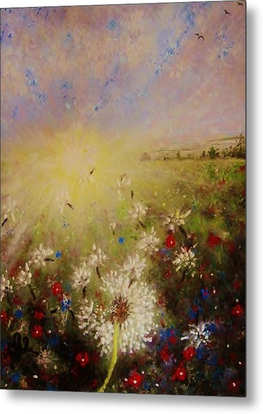 Dancing With The Sun... Metal Print