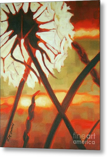 Dandelion At Last Light Metal Print