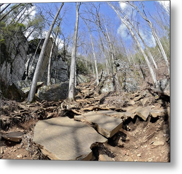 Dangerous Hiking Trail Metal Print