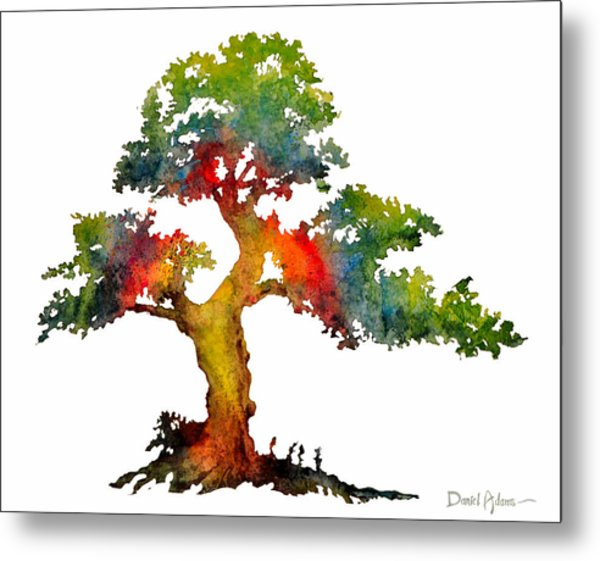 Da140 Rainbow Tree Daniel Adams Metal Print