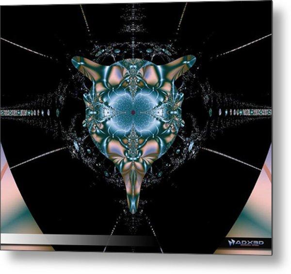 Dark Fractal II Metal Print