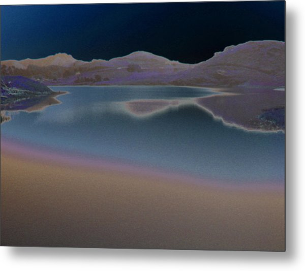 Dark Lake Metal Print
