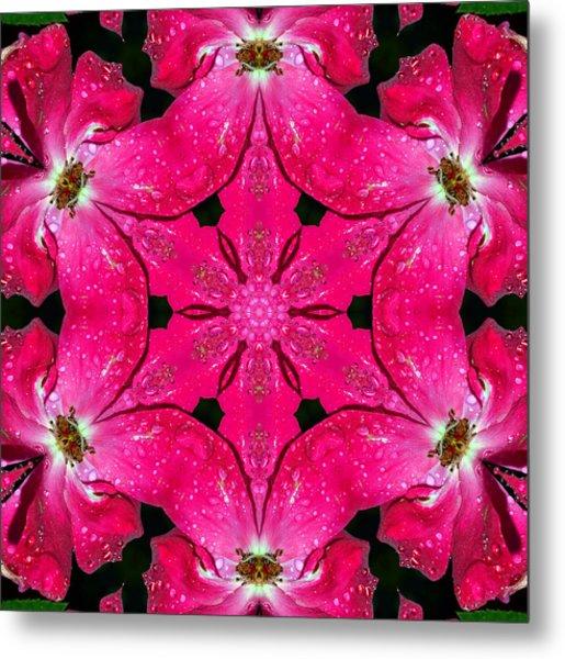 Dark Pink Splendor Mandala Metal Print
