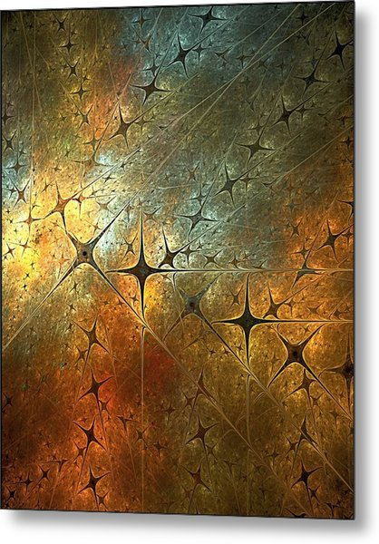 Dark Star Grid Metal Print