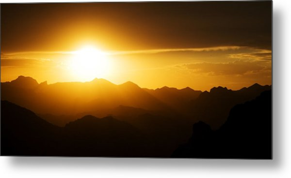 Dark Sunset Over The Matzatzals Metal Print