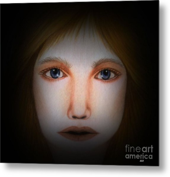 Darkness   Face Art By Saribelle Rodriguez Metal Print