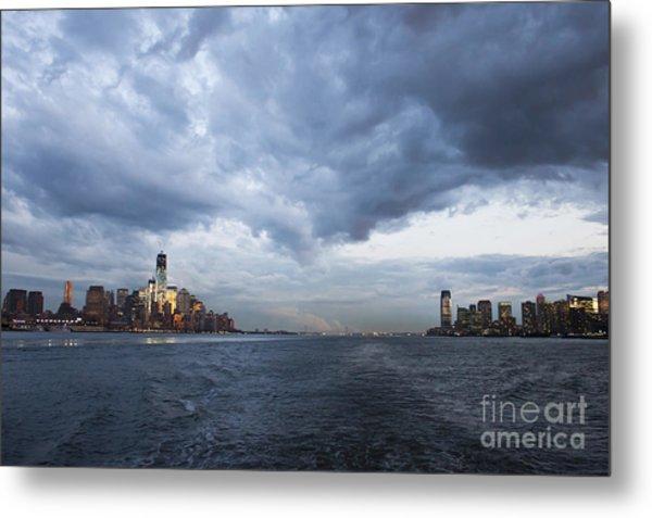Darks Clouds Over Manhattan Metal Print