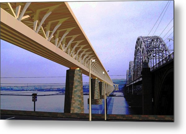 Darnitsky Bridge Metal Print