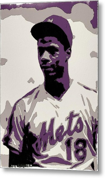 Darryl Strawberry Poster Art Metal Print