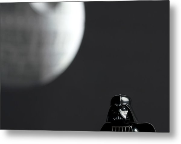Darth And His Death Star Metal Print