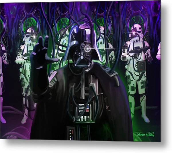 Darth Borg Metal Print