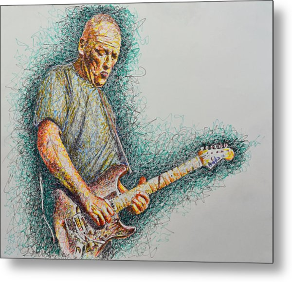 Dave Gilmour Metal Print by Breyhs Swan