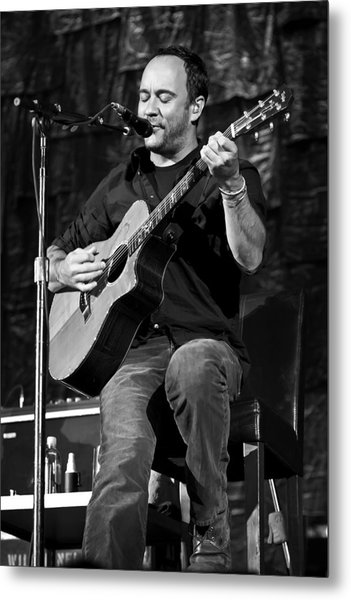 Dave Matthews On Guitar 9  Metal Print by Jennifer Rondinelli Reilly - Fine Art Photography