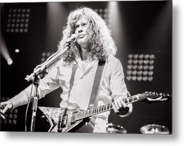 Dave Mustain From Megadeth. Live 2012 Metal Print