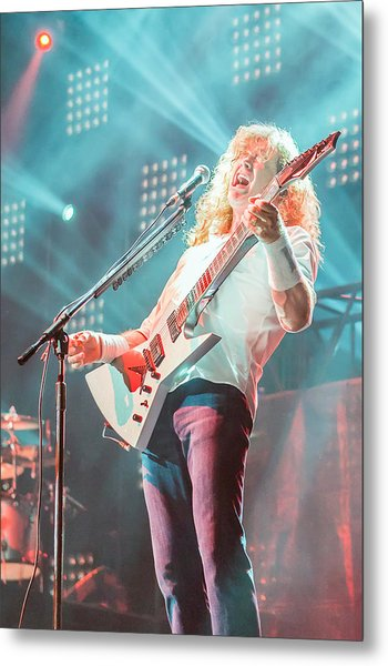Dave Mustaine Live 2012 Metal Print