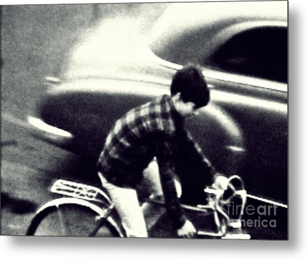Dave On A Bike Metal Print
