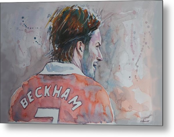 David Beckham - Portrait 2 Metal Print