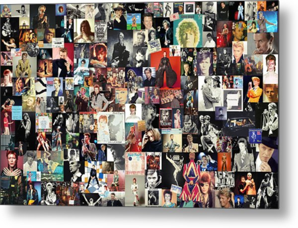 David Bowie Collage Metal Print