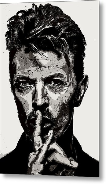 David Bowie - Pencil Metal Print