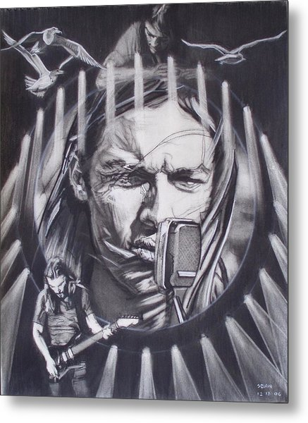 David Gilmour Of Pink Floyd - Echoes Metal Print