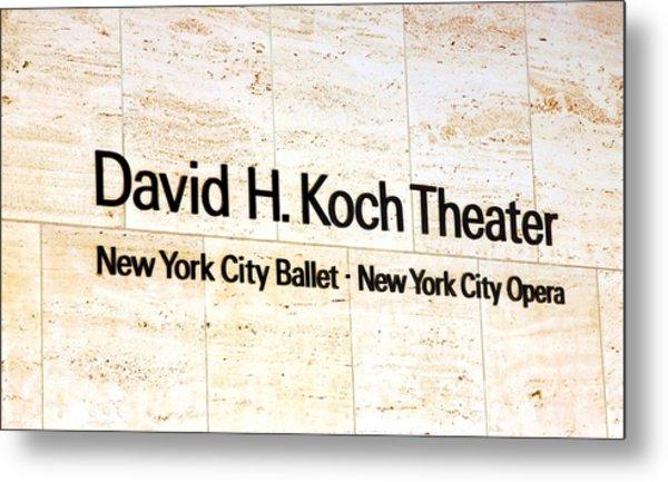 David H. Koch Theater Metal Print