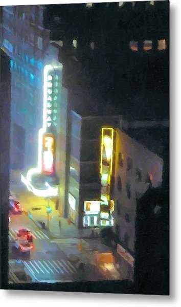 David Letterman Show Theater On Broadway E5 Metal Print by Bud Anderson