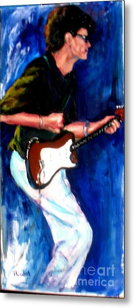 David On Guitar Metal Print