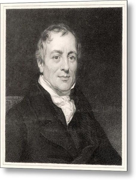 David Ricardo  Economist        Date Metal Print by Mary Evans Picture Library