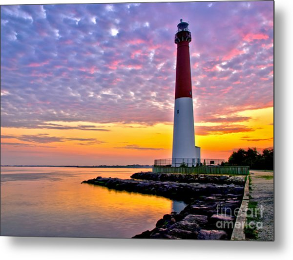 Dawn At Barnegat Lighthouse Metal Print