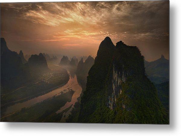 Dawn At Li River Metal Print
