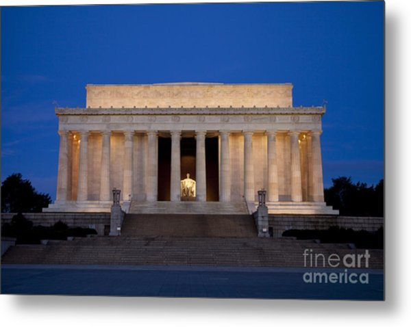Metal Print featuring the photograph Dawn At Lincoln Memorial by Brian Jannsen
