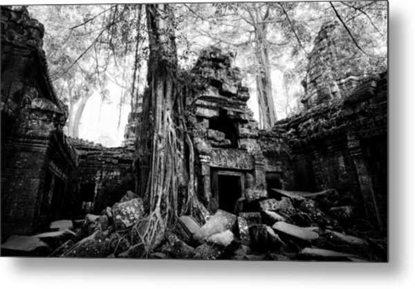 Metal Print featuring the photograph Dawn At Ta Prohm by Julian Cook