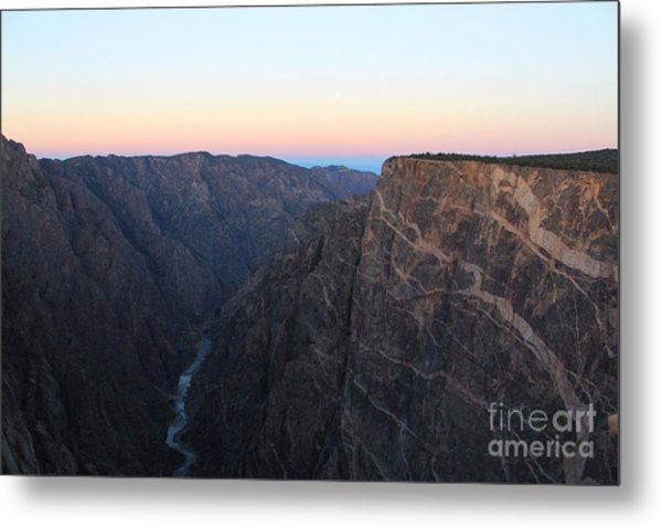 Dawn At The Black Canyon Metal Print
