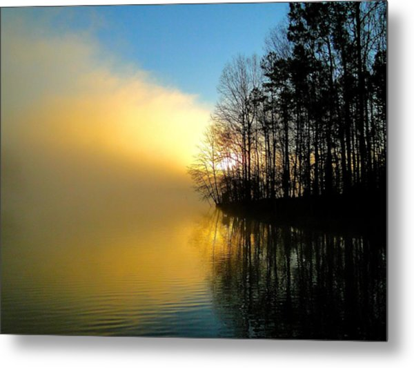 Dawn At Waters Edge Metal Print