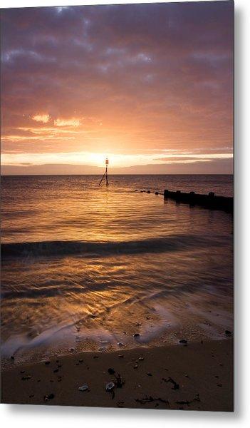 Dawn By The Sea Metal Print by Mara Acoma