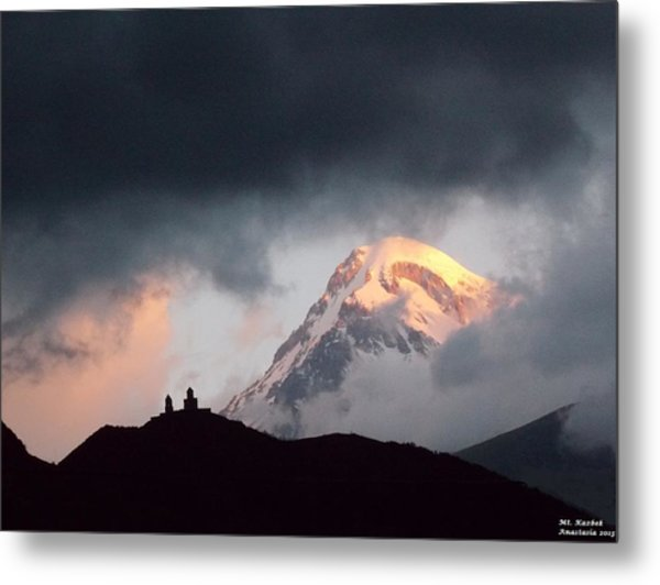 Dawn Caressing Mt Kazbek 2 Metal Print