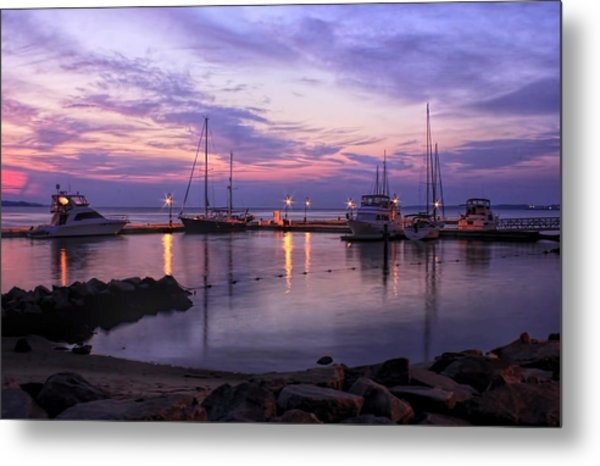 Dawn In Yorktown Virginia Metal Print