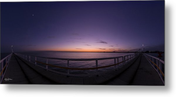 Dawn On The Jetty Metal Print by Andrew Dickman