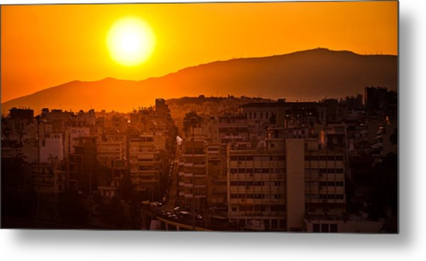 Dawn Over Athens Metal Print