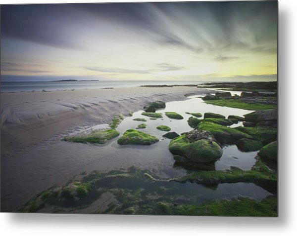 Dawn Over Seahouses Beach Metal Print