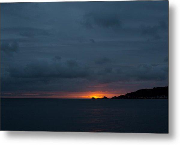 Dawn Over Swansea Bay Metal Print