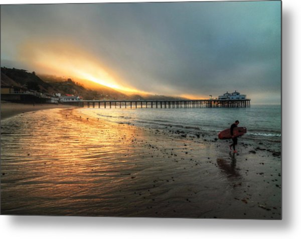 Dawn Session Over Metal Print